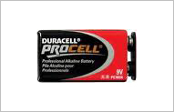 Duracell Procell Battery 9V (12 per box)